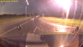 Russian dash cam captures exploding transformer - Video