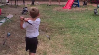 Two-Year-Old Golf Prodigy Knows How To Swing A Club - Video