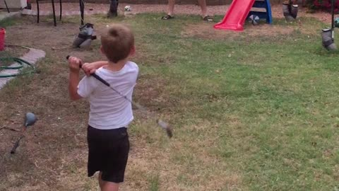 Two-Year-Old Golf Prodigy Knows How To Swing A Club