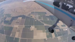 Skydiving over the San Joaquin Valley