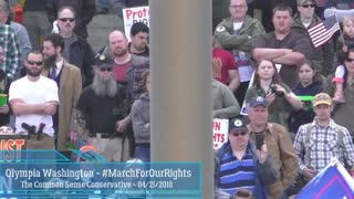 Thousands Listening To An Amazing Speech At Washington State Capitol 2nd Amendment Rally - Video