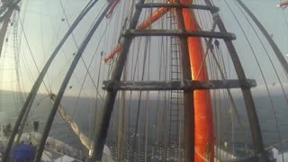 58 meters above the deck