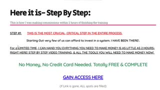 Crucial First Step To Access Free Affiliate Marketing Training System / Group