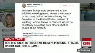 Don Lemon whines about Trump's insult - Video