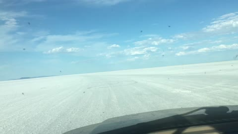 Cruising the Bonneville Salt Flats