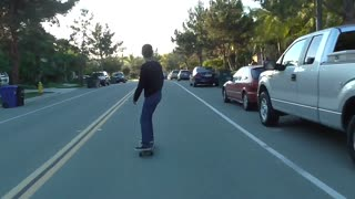 First time longboard fail