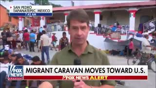 Caravan member says he's been deported and convicted of attempted murder in the U.S. - Video