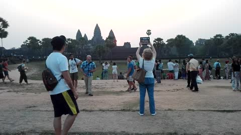 Solstice Temple Angkor Vat just in Cambodia