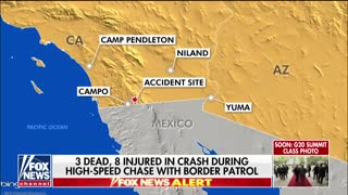 3 killed in crash during high-speed chase with Border Patrol