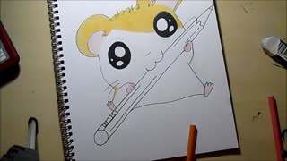 Speed drawing: Cute hamster - Video