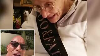 Sweet Grandma Receives Happy 100th Birthday Message From Dwayne 'The Rock' Johnson