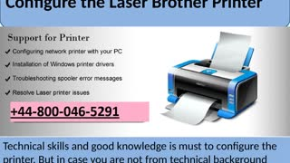 +44-800-046-5291 How to Setting-up Brother Wireless Printer - Video