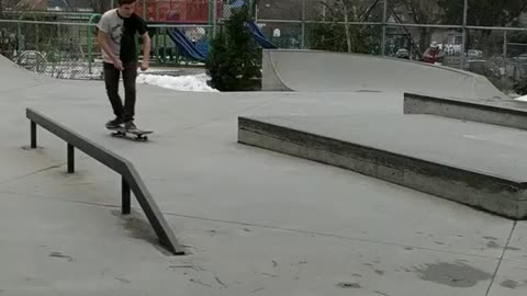Skateboard slide - Almost had it but not quite