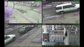 Thief Steals Package While Homeowner is at Church - Video