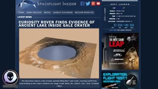 MASSIVE LAKE IN MARS GALE CRATER HAD LIFE! MAJOR ALIEN DISCOVERY