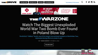 WWII Tallboy bomb explodes in canal in Poland