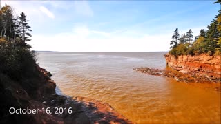 Incredible high to low tide time lapse in Nova Scotia - Video