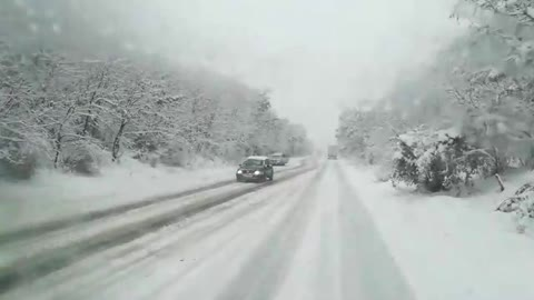First snow in Macedonia