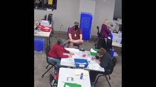 VOTER FRAUD ALERT: Woman caught on video filling out multiple ballots in vote counting location