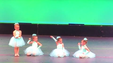 Adorable Little Girls Are Up For A Recital, But One Of Them Changes Her Mind