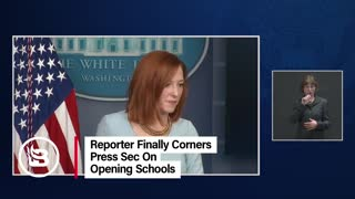 Reporter Corners Press Secretary on Schools Reopening