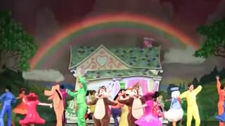 Disney Land Family Act Performance On Stage
