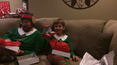 Father And Son Open The Best Christmas Present Ever