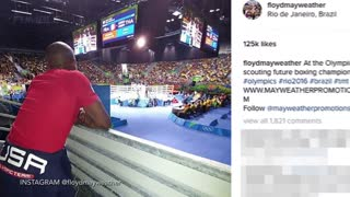 Floyd Mayweather Supports Team USA In Rio, Signs the next Floyd Mayweather - Video