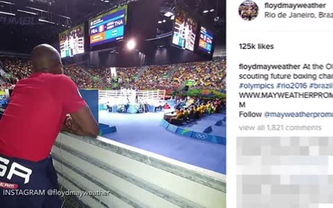 Floyd Mayweather Supports Team USA In Rio, Signs the next Floyd Mayweather