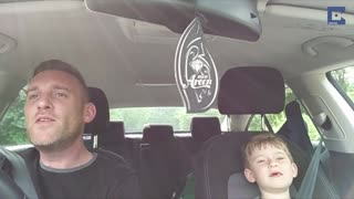 Father And Son Belt Out Frank Sinatra Duet In The Car - Video