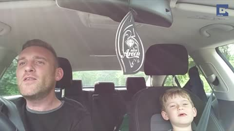 Father And Son Belt Out Frank Sinatra Duet In The Car