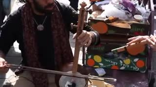cultures from around the world - Israeli kamancheh player at market, Jerusalem, Israel Episode 2 - Video