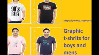 Mens Graphic Design Printed Cotton Black Colour T Shirts - Video