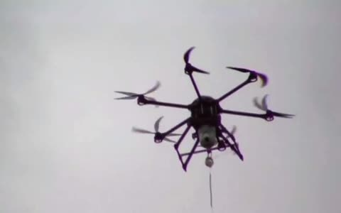 Tethered drone could fly forever