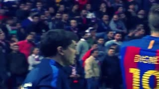 Lionel Messi angry reaction on Referee vs Sevilla - Video
