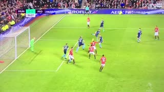 Paul Pogba outstanding header goal vs Middlesbrough - Video