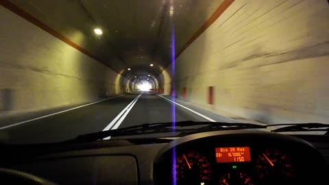 Driving and filming at the same time within the tunnel, it was really amazing