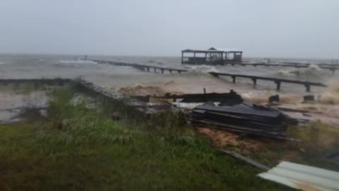 Fort Morgan, Alabama coastal flooding