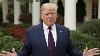 President Donald Trump video message to the American people
