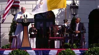 Obama and Pope address climate change and poverty at White House - Video