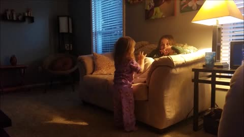 Toddler Tickles Mommy