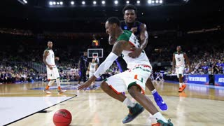 Teammates John Wall and Sheldon Mcclellan Faceoff During Practice - Video