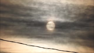 Dec 28 Sunrise Behind Thin Clouds  - Video
