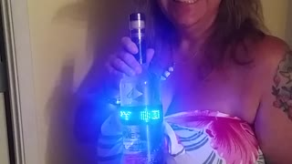 Awesome 'Happy Birthday' LED Vodka Bottle - Video