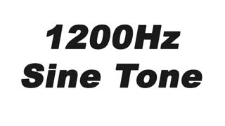 1200Hz Sine Wave Test Tone - Video