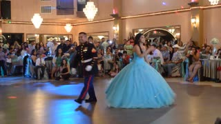 Jasmine's quinceanera  best (USMC) Father/daughter - Video