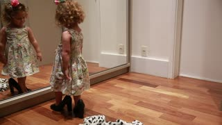 Adorable toddler dances flamenco