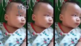troll very funny baby - troll the baby with sour fruit - Video