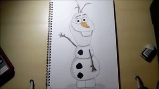 Speed drawing: Olaf from 'Frozen' - Video
