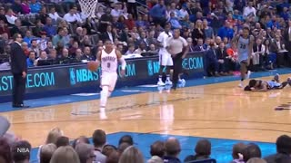 Russell Westbrook DESTROYS Mike Conley All Game with VICIOUS Steal & Slam and Chase-Down Block - Video